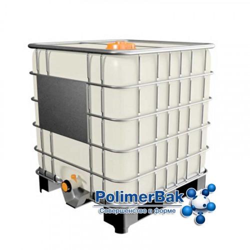 Емкость п/э куб 1000 литров на металлическом поддоне (еврокуб) - новая