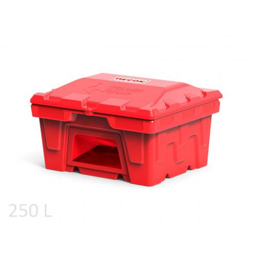 Ящик для песка пожарный 250 л с дозатором