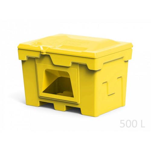 Ящик для соли и реагентов 500 л с дозатором