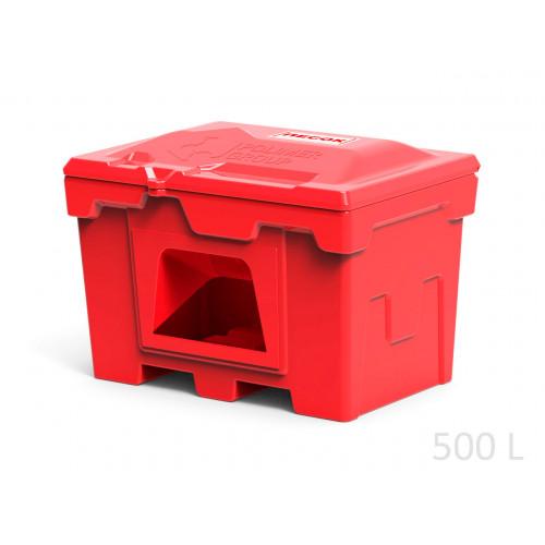 Ящик для песка пожарный 500 л с дозатором