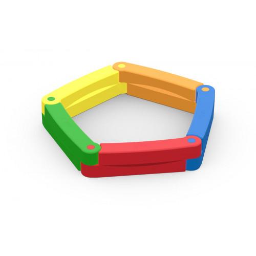 Песочница детская пластиковая 5 секций