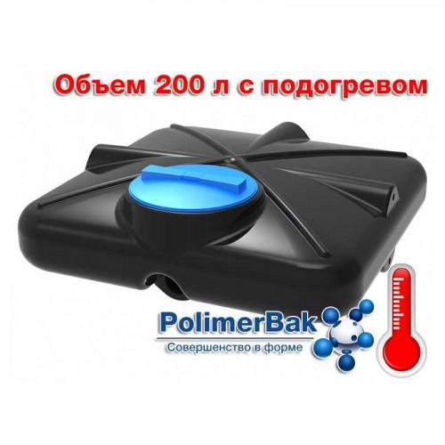 Бак душевой РОСА 200 литров с подогревом