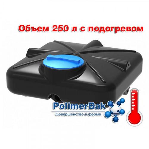 Бак душевой РОСА 250 литров с подогревом