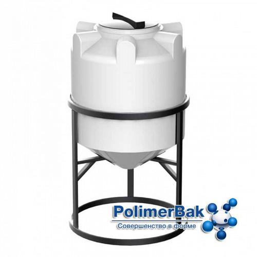 Конусная емкость К 200 литров с обрешеткой