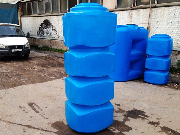 Пластиковые накопительные емкости вертикальные для воды
