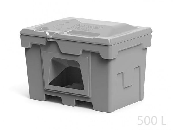 Пластиковый контейнер ящик для противогололедных реагентов