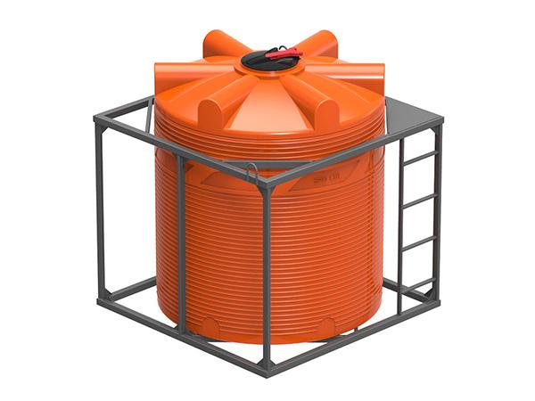 Пластиковые емкости в кассете для удобрений и воды