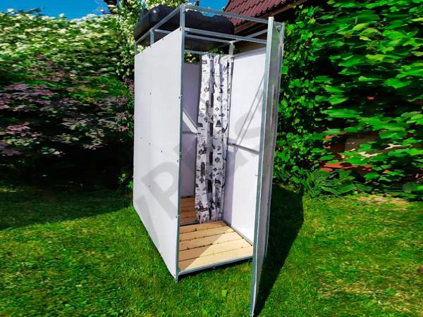 Сделать летний душ на даче из пластикового бака достаточно просто