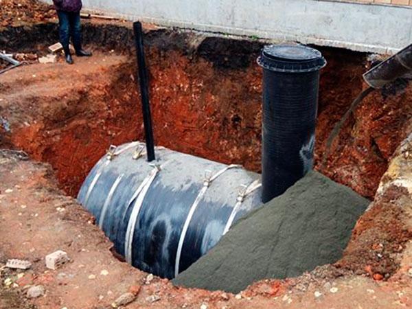 Пластиковая накопительная емкость для канализации
