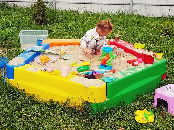 Детская песочница сборная - на что обратить внимание