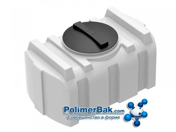 Горизонтальный пластиковый бак для питьевой воды